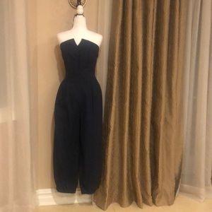 Authentic Barboglio nave blue jumpsuit size 8 NWT